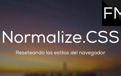 Reseteando  CSS con Normalize.css