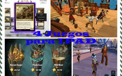 Cuatro juegos de Ipad para viajes largos.