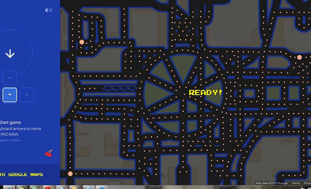 Pac-man y Ms Pac-man, remembranzas y Google Maps.