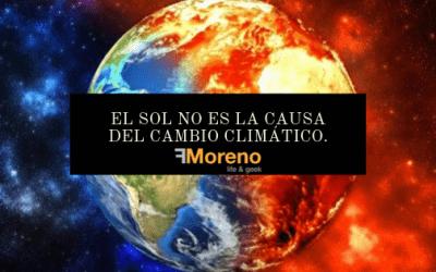 El sol no es la causa del cambio climático.