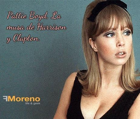 Pattie Boyd, La musa de Harrison y Clapton.