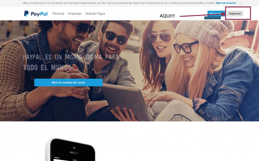 Como crear una cuenta en Paypal