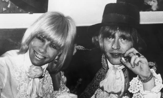 Anita Pallenberg and Brian Jones at a party in 1967. Photograph: Keystone/Getty Images